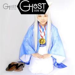 Ghost Cos Wigs - 银仙扣库里桑浴衣角色扮演服套装