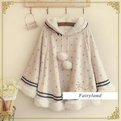 Fairyland - Anchor Print Hooded Capelet