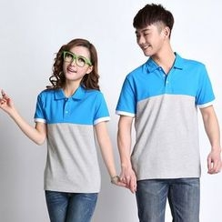 Lovebirds - Color-Block Polo Shirt