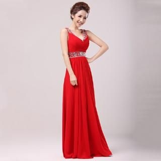 Annier - Sleeveless Embellished Evening Dress
