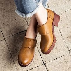 MIAOLV - Chunky Heel Velcro Shoes