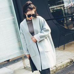 LRZ - Stand-collar Wool Coat