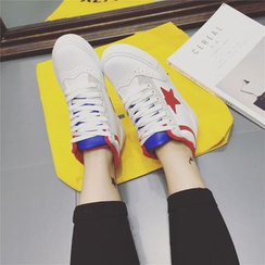 kokoin - Star Applique Lace Up High Top Sneakers