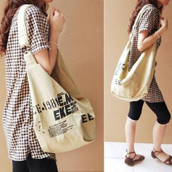 Bags 'n Sacks - Lettering Printed Canvas Cross Bag