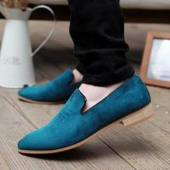 Hipsteria - Faux-Suede Loafers