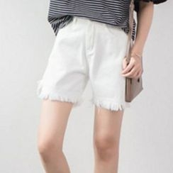 Iscat - Frayed Denim Shorts