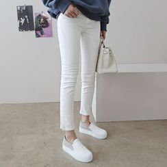 DAILY LOOK - Flat-Front Skinny Pants