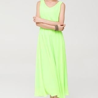 AiSun - Cross Strap Back Sleeveless Maxi Dress