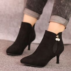 IYATO - Beaded Kitten-Heel Ankle Boots