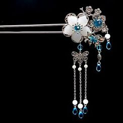 Paparazzi - Flower Dangling Hair Pin