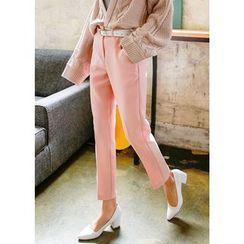 J-ANN - Pocket-Side Tapered Dress Pants