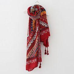 Meimei - 印花麻棉围巾