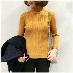 Dream Girl - Turtleneck Ribbed Sweater