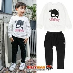 BILLY JEAN - Kids Set: Printed Sweatshirt + Sweatpants