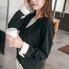 Tokyo Fashion - Long-Sleeve Chiffon Tunic