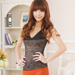 Giselle Shapewear - Lace Panel Shaping Tank Top