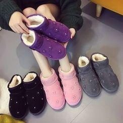 SouthBay Shoes - Flower Applique Snow Boots