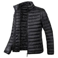 Seoul Homme - Detachable-Sleeve Padded Jacket - Lightweight