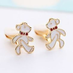 Oohlala! - Bear Stud Earrings / Clip On Earrings
