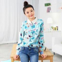 59 Seconds - Ice Pop Print Chiffon Shirt