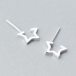 A'ROCH - 925 Sterling Silver Star Sterling Silver Earrings