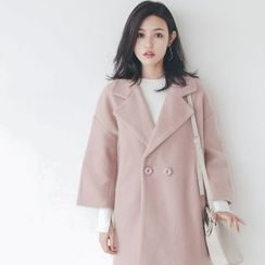 Porta - Double-breasted Mohair Coat