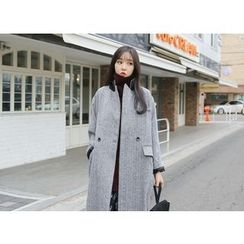 Envy Look - Herringbone Long Coat