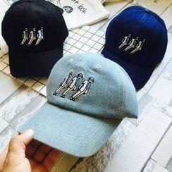 Hats 'n' Tales - Embroidered Denim Baseball Cap