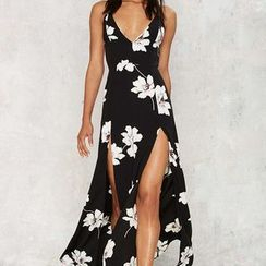 Flobo - Sleeveless Floral Maxi Dress