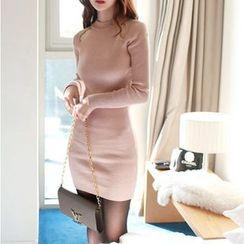 雅典娜 - 長袖針織連衣裙