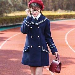 NiFFe - Marine Collar Wool Blend Coat
