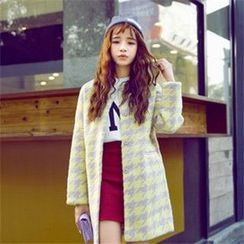 P.E.I. Girl - Houndstooth Snap Button Coat