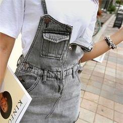 PIPPIN - Denim Suspender Skirt