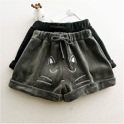 Storyland - Embroidery Cuffed Shorts
