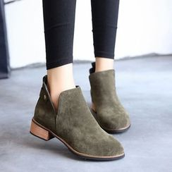 SouthBay Shoes - Block Heel Ankle Boots