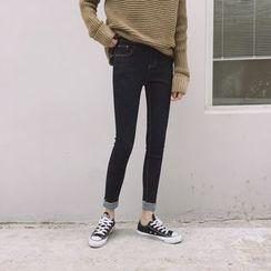 Eva Fashion - Fleece-lined Skinny Jeans