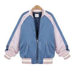Coronini - Color Block Baseball Jacket