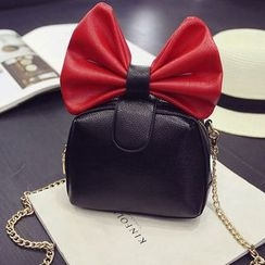 Clair Fashion - Bow Accent Shoulder Bag