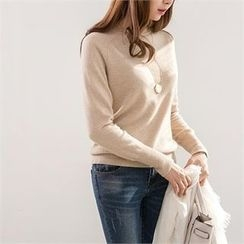 PEPER - Round-Neck Raglan-Sleeve Knit Top