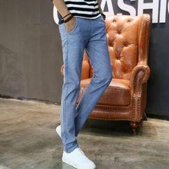 蓝派 - 直腿长裤