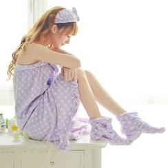 Dreamland - Set: Bath Towel + Bow Hairband + Slippers