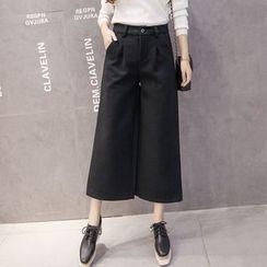 Shiga - Wide Leg Cropped Pants