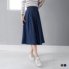 OrangeBear - A-Line Midi Skirt