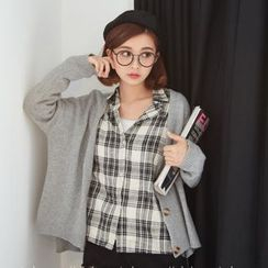 BAIMOMO - Plain Knit Cardigan