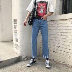 Eva Fashion - 散邊寬腳牛仔褲