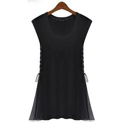 Eloqueen - Lace-Up Side Sleeveless Top