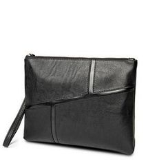 TESU - Faux Leather Panel Clutch