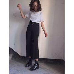Eva Fashion - 純色寬腳褲