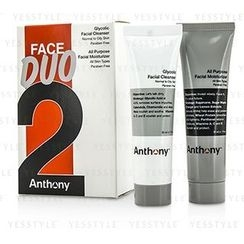 Anthony - Logistics For Men Face Duo Kit: Glycolic Facial Cleanser 30ml + All Purpose Facial Moisturizer 30ml