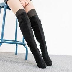 VIVIER - Faux-Suede High Boots